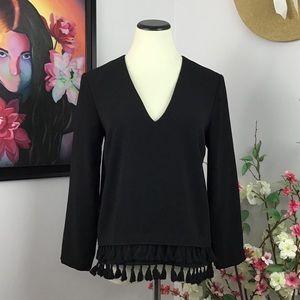 Zara Woman Layered Tassel Blouse
